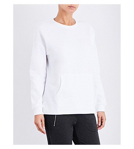 THE WHITE COMPANY Oversized cotton-jersey sweatshirt (White
