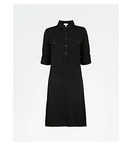 THE WHITE COMPANY A-line cotton-jersey dress (Black