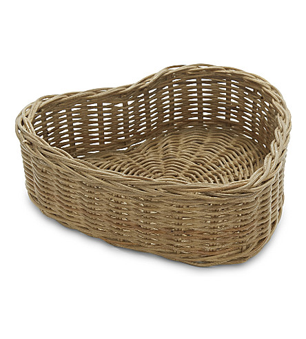 THE WHITE COMPANY Heart wicker bread basket (Natural