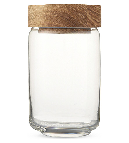 THE WHITE COMPANY Medium glass pantry jar (Natural