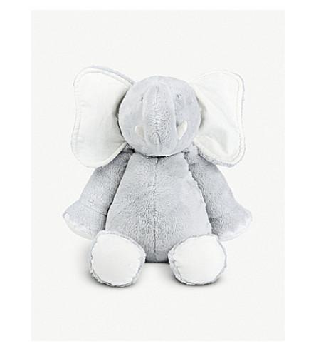 THE LITTLE WHITE COMPANY Kimbo elephant soft toy 42cm (Grey