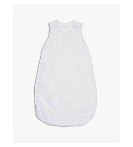 THE LITTLE WHITE COMPANY Kimbo seersucker cotton sleeping bag (Grey