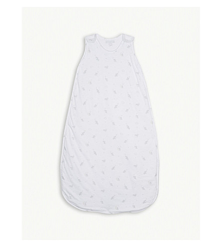 THE LITTLE WHITE COMPANY Kimbo print cotton sleeping bag 1.0 tog (White