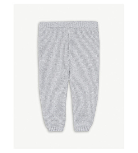 THE LITTLE WHITE COMPANY Knitted cotton leggings 0-24 months (Grey