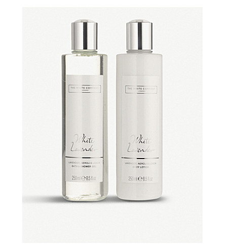 THE WHITE COMPANY White Lavender bath & body gift set