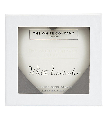 THE WHITE COMPANY White Lavender heart soap 150g (No+colour
