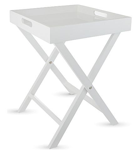 ... Lacquer Butleru0027s Tray Table (White. PreviousNext