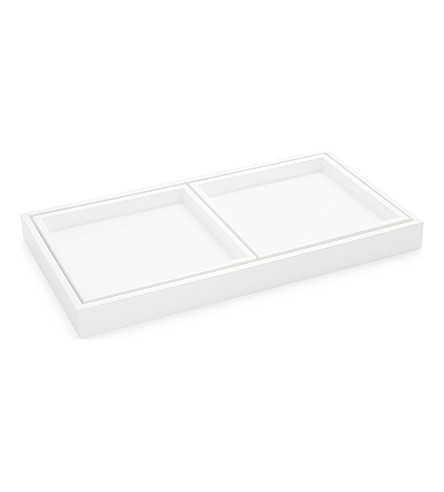 THE WHITE COMPANY Lacquered nest of dressing table trays (White