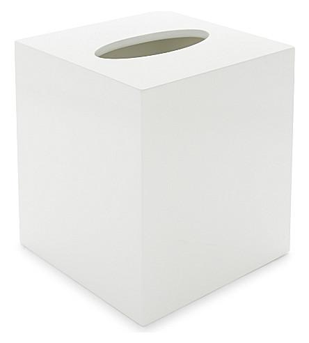 THE WHITE COMPANY Lacquered tissue box (White
