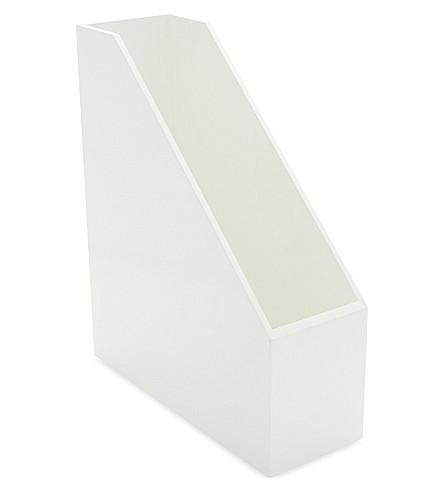 THE WHITE COMPANY Lacquer magazine holder (White