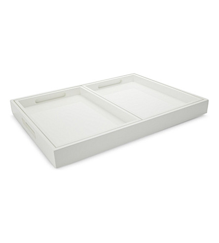 THE WHITE COMPANY Lacquered trays set of three (White