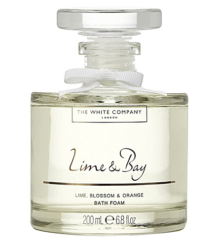 THE WHITE COMPANY Lime & Bay bath foam decanter 200ml (No+colour