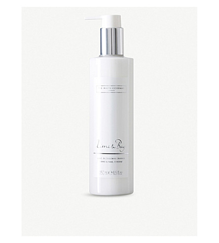 THE WHITE COMPANY Lime & bay hand and nail cream 150ml (No+colour