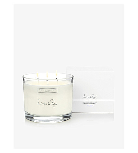 THE WHITE COMPANY Lime & Bay large candle 770g