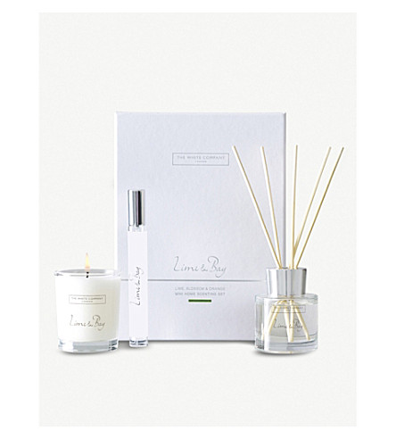 THE WHITE COMPANY Lime & Bay scented candle (No+colour