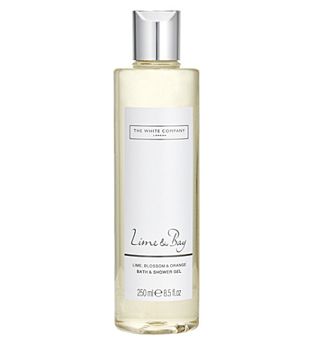 THE WHITE COMPANY Lime & Bay shower gel 250ml (No+colour
