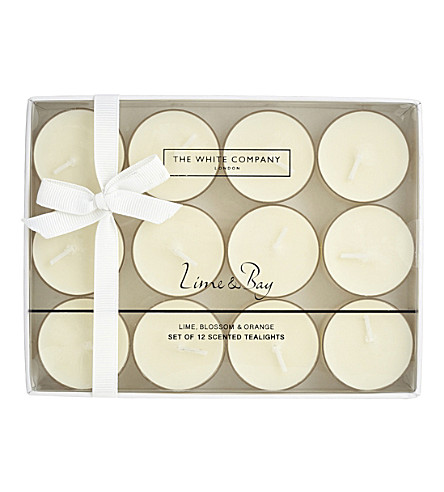THE WHITE COMPANY Lime & Bay tealights set of 12
