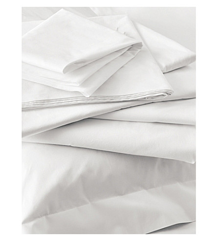 THE WHITE COMPANY Egyptian cotton deep fitted sheet (White