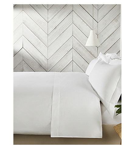 THE WHITE COMPANY Housewife superking Egyptian cotton pillowcase (White