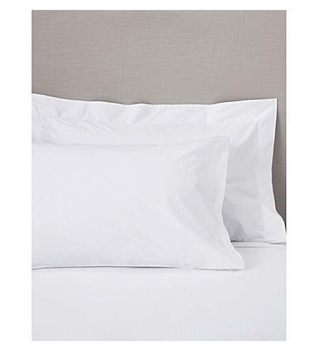 THE WHITE COMPANY Oxford Egyptian Cotton super king pillowcase (White
