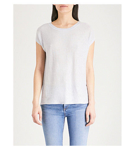 Stockist Online Clearance Factory Outlet THE WHITE COMPANY Cross-back linen top Pale blue Best Online oBqYTdKEs