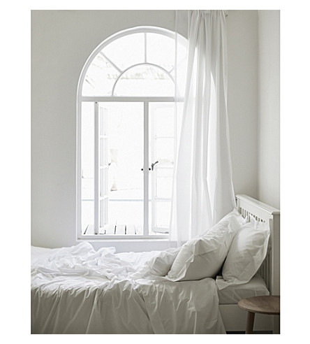 THE WHITE COMPANY Egyptian cotton duvet cover (White