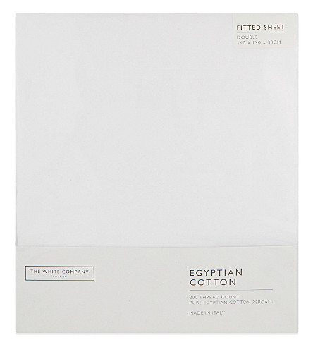 THE WHITE COMPANY Egyptian cotton fitted sheet (White