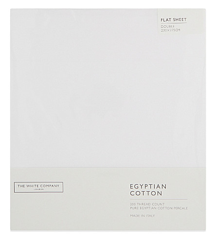 THE WHITE COMPANY Egyptian cotton flat sheet (White