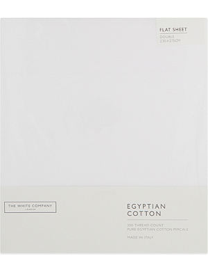 THE WHITE COMPANY Egyptian cotton flat sheet