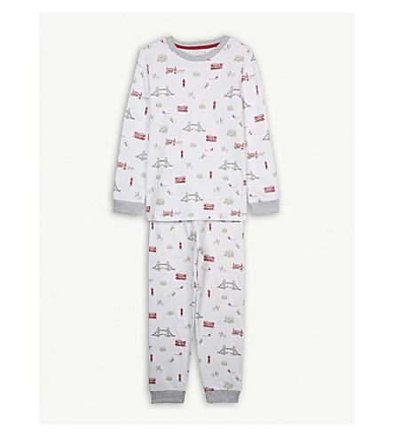 THE LITTLE WHITE COMPANY London print cotton pyjamas 7-12 years (Blue