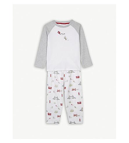 THE LITTLE WHITE COMPANY London print cotton pyjamas 1-6 years (Multi