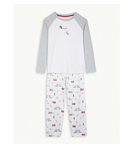 THE LITTLE WHITE COMPANY London print cotton pyjamas 7-12 years (Multi