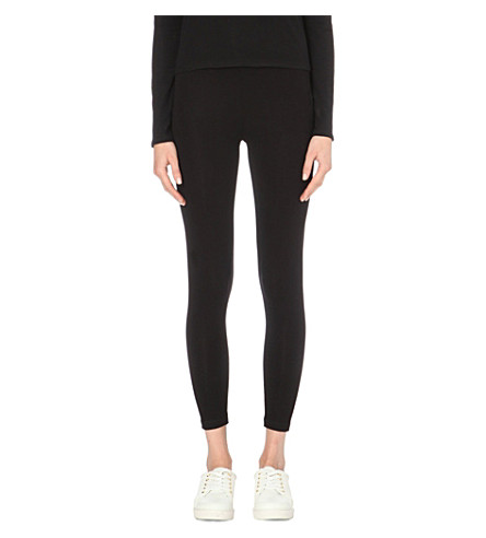 THE WHITE COMPANY High-rise jersey leggings (Black