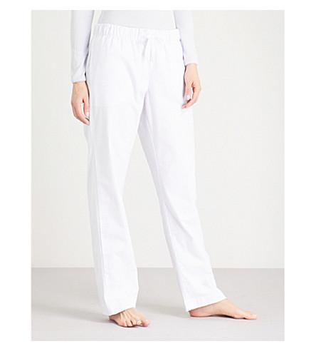THE WHITE COMPANY Striped cotton pyjama trousers (White/paleblue