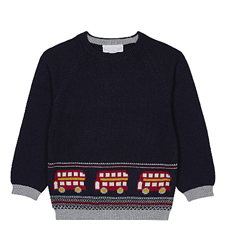 THE LITTLE WHITE COMPANY London bus jumper 1-6 years (Navy