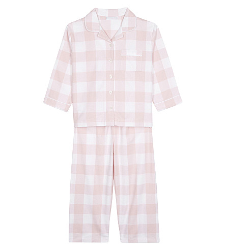 THE LITTLE WHITE COMPANY Large flannel pyjamas 1-5 years (Chalk+pink