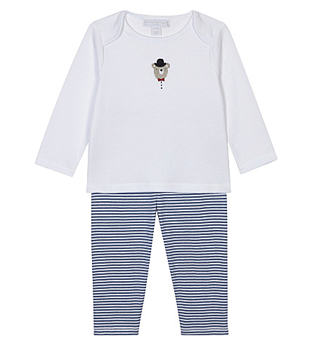 THE LITTLE WHITE COMPANY Two piece bear pyjamas 0-18 months (Multi