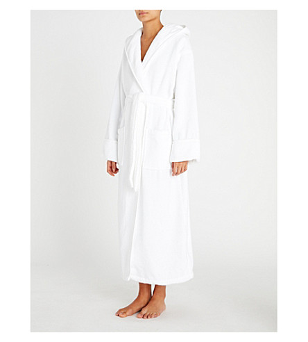 THE WHITE COMPANY Hooded hydrocotton robe (White