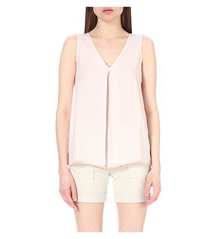 THE WHITE COMPANY Sleeveless linen top (Rose