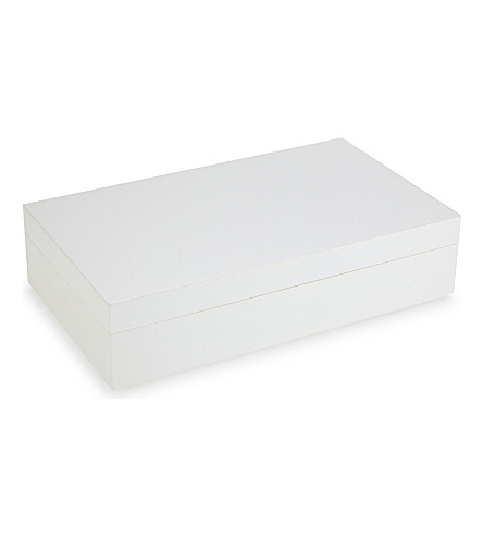 THE WHITE COMPANY Lacquer large jewellery box (White
