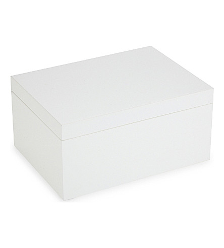 THE WHITE COMPANY Lacquer jewellery box (White
