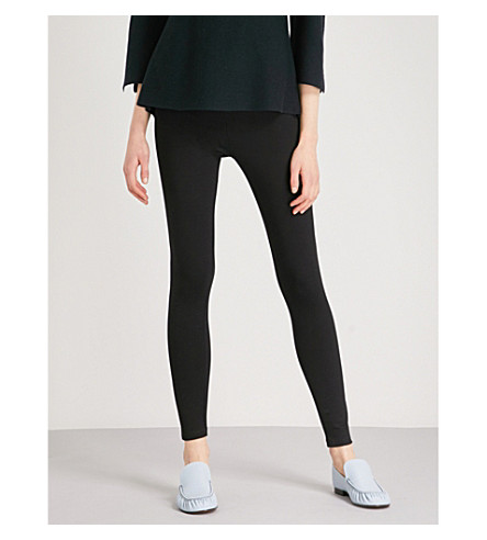 THE WHITE COMPANY Luxury stretch-jersey leggings (Black