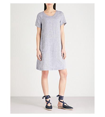 THE WHITE COMPANY Chambray linen swing dress (Indigo