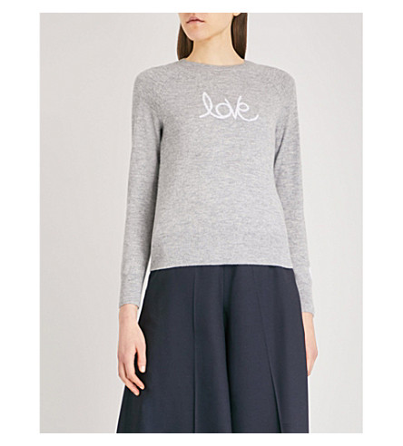 THE WHITE COMPANY Love wool jumper (Mid+grey+marl