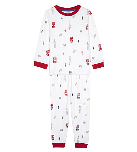 THE LITTLE WHITE COMPANY London cotton pyjamas 1-6 years (White