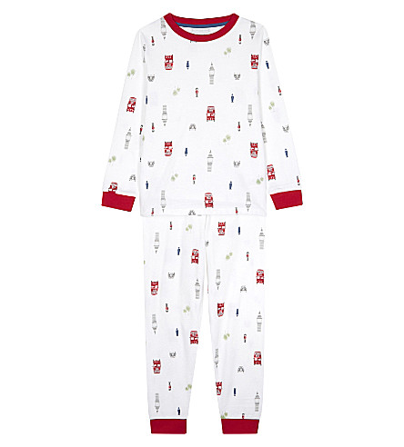 THE LITTLE WHITE COMPANY London cotton pyjamas 6-12 years (White