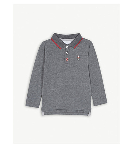 THE LITTLE WHITE COMPANY London guard cotton-blend polo shirt (Grey