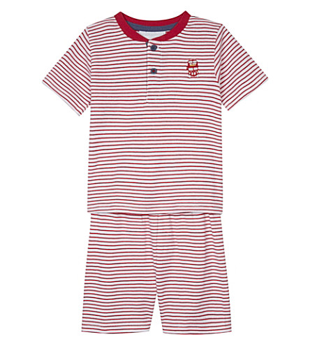 THE LITTLE WHITE COMPANY London Henley stripe cotton pyjamas 1-6 years (Multi
