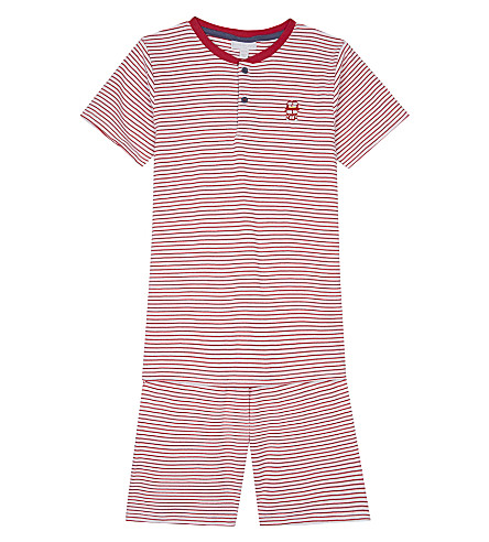 THE LITTLE WHITE COMPANY London Henley cotton pyjamas 6-12 years (Multi