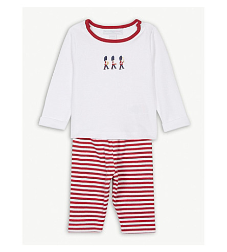THE LITTLE WHITE COMPANY London guards cotton pyjamas 0-24 months (Multi